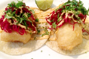 Sancho Pistola sea bass taco